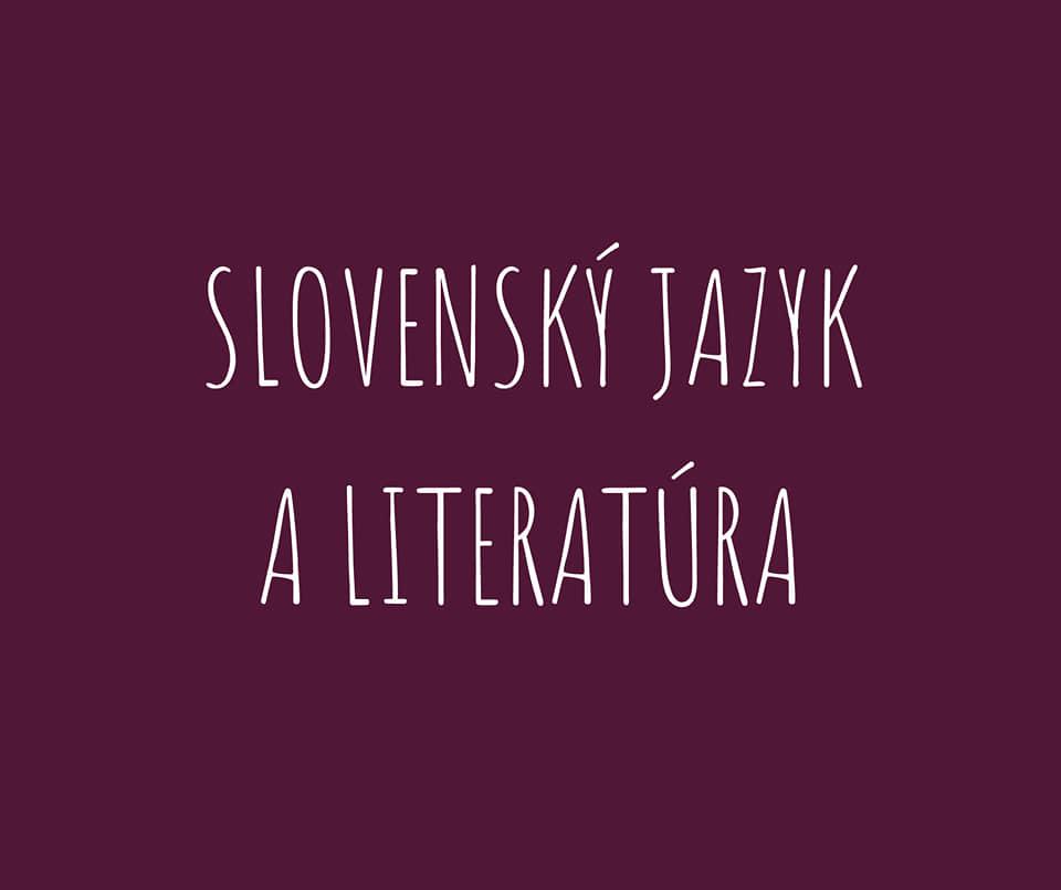Slovenský jazyk a literatúra - 2. stupeň